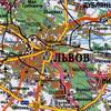 Карта окрестностей Львова